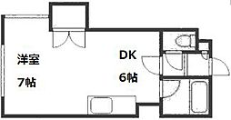 リーブルひばりB[4階]の間取り