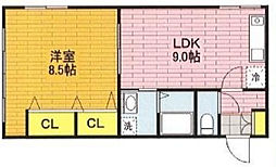 埼玉県戸田市上戸田4丁目の賃貸マンションの間取り