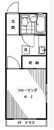 東京都世田谷区池尻1の賃貸アパートの間取り