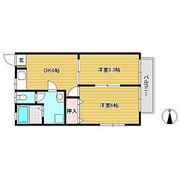 パル・シオガワ B棟[1階]の間取り