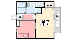 兵庫県たつの市神岡町東觜崎の賃貸アパートの間取り
