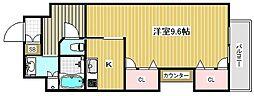 カイセイ新神戸第2WEST[8階]の間取り