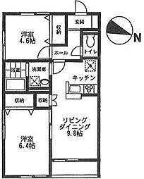 オーチャード・アパートメント D[101号室号室]の間取り