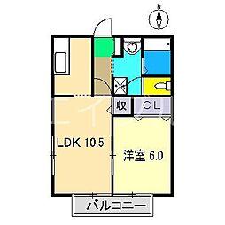 リベール高須[2階]の間取り