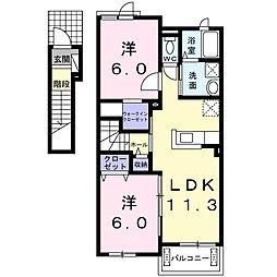中尾町アパート[2階]の間取り