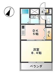 グリ−ンハイム三軒[3階]の間取り