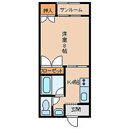 リーブル伏見台[2階]の間取り