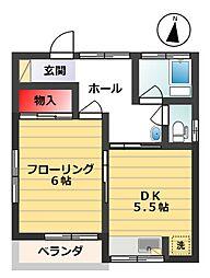 坂栄荘(さかえそう)[101号室]の間取り