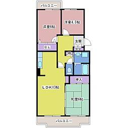 マッティーナ神戸壱番館[4階]の間取り