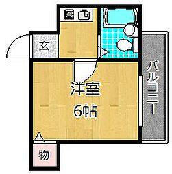 JPアパートメント枚方[2階]の間取り