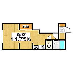 メゾンドホーク[1階]の間取り
