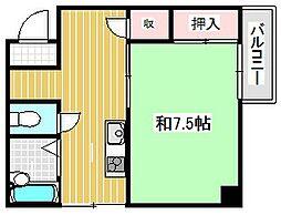大阪府吹田市岸部北5丁目の賃貸アパートの間取り
