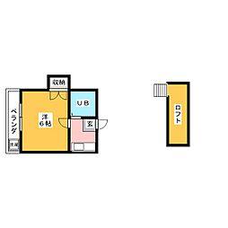 パレス柴田[2階]の間取り