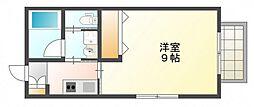 広島県広島市西区福島町2丁目の賃貸アパートの間取り