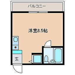 長崎県長崎市風頭町の賃貸マンションの間取り