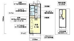 ガーデンハイツ18[1階]の間取り