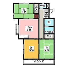サンシャインマンション2[1階]の間取り
