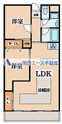 上本町ガーデンハイツ[3階]の間取り