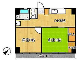 古澤マンション[402号室]の間取り