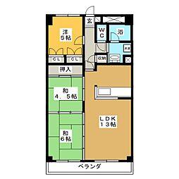 高砂関弐番館[10階]の間取り