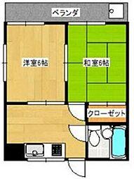 コーポM3[3階]の間取り