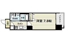 レジュールアッシュ南堀江[8階]の間取り