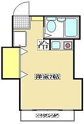 パインハイム 2階ワンルームの間取り