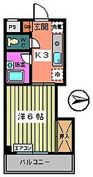 第3サンフラワーマンション[102号室]の間取り
