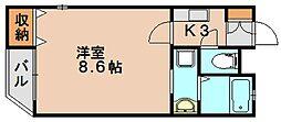 クレフラスト桜ケ丘[1階]の間取り
