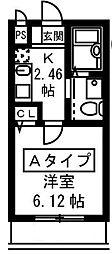 フォセット[1階]の間取り