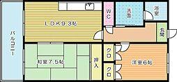 ラ・クーレIII[603号室]の間取り