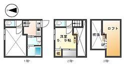 愛知県名古屋市中村区中村町4丁目の賃貸アパートの間取り