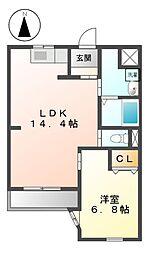 愛知県名古屋市中川区松年町4の賃貸マンションの間取り