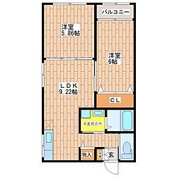 オーナーズマンション南巽[3階]の間取り