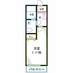 JR総武線 西荻窪駅 徒歩7分の賃貸アパート 2階1Kの間取り