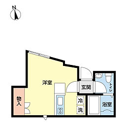 イグレックス鹿島田 1階ワンルームの間取り