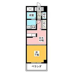 ルミエール青山8[8階]の間取り