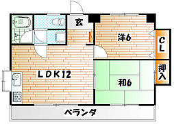 TK・BLDII[201号室]の間取り