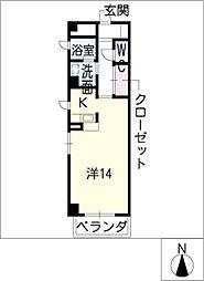 STATION池下[5階]の間取り