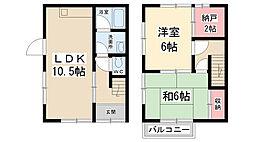[タウンハウス] 兵庫県川西市萩原台西1丁目 の賃貸【/】の間取り