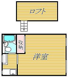 東京都世田谷区祖師谷3丁目の賃貸アパートの間取り