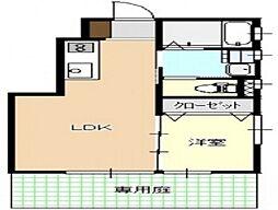 広島電鉄宮島線 広電廿日市駅 徒歩6分の賃貸アパート 1階1LDKの間取り