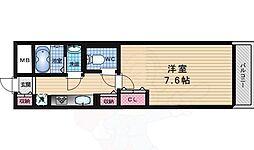 京阪本線 中書島駅 徒歩27分の賃貸マンション 2階1Kの間取り