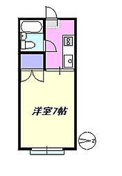 サンハイツ香川[102号室]の間取り