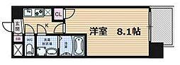コスモ梅田WEST[3階]の間取り