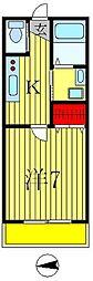 ヒューマンパレス馬橋II[304号室]の間取り