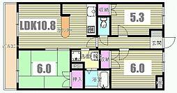 東京都八王子市千人町3丁目の賃貸マンションの間取り