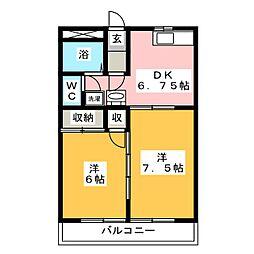 昭和コーポ前橋B棟[3階]の間取り