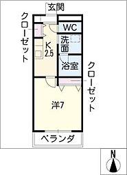 アーバンストリーム[3階]の間取り