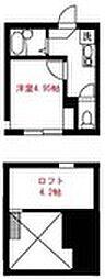 Elua西横浜[103号室]の間取り
